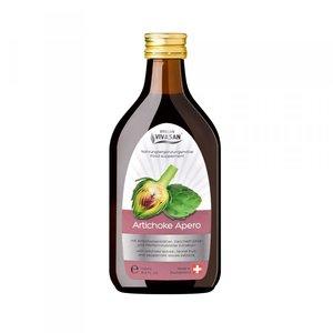 Artichoke Apero is een zuivere natuurdrank op basis van artisjok, muntblad, venkel en citroenzuur.